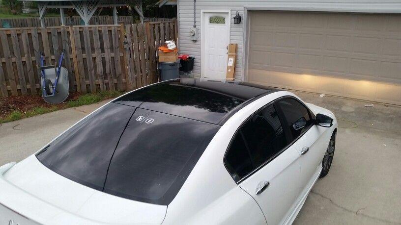 Black Vinyl Roof Honda Accord 2014 Mod Vinyl Roofing Honda Accord My Ride