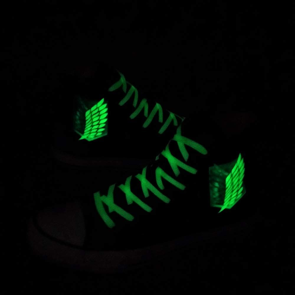 Anime Fans Attack on Titan Shingeki No Kyojin Wings of Freedom Cosplay Canvas Shoes Sneakers Luminous Women Men Casual Flats Espadrilles, #Ad #Wings, #Kyojin, #Cosplay, #Freedom