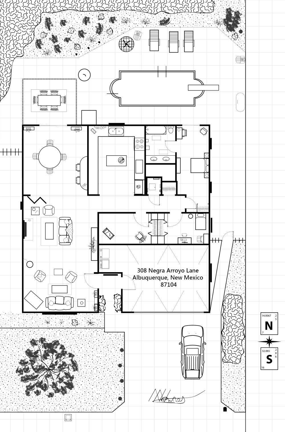 Minecraft Walter White House Walter White House Walter White Aesthetic Walter White Photography Walter Whi White House Plans Floor Plans House Layouts