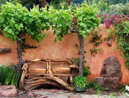 88 coole Gartendeko Inspirationen | Gartenbänke aus holz ...