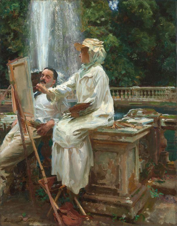 John Singer Sargent - The Fountain, Villa Torlonia, Frascati, Italy, 1907.