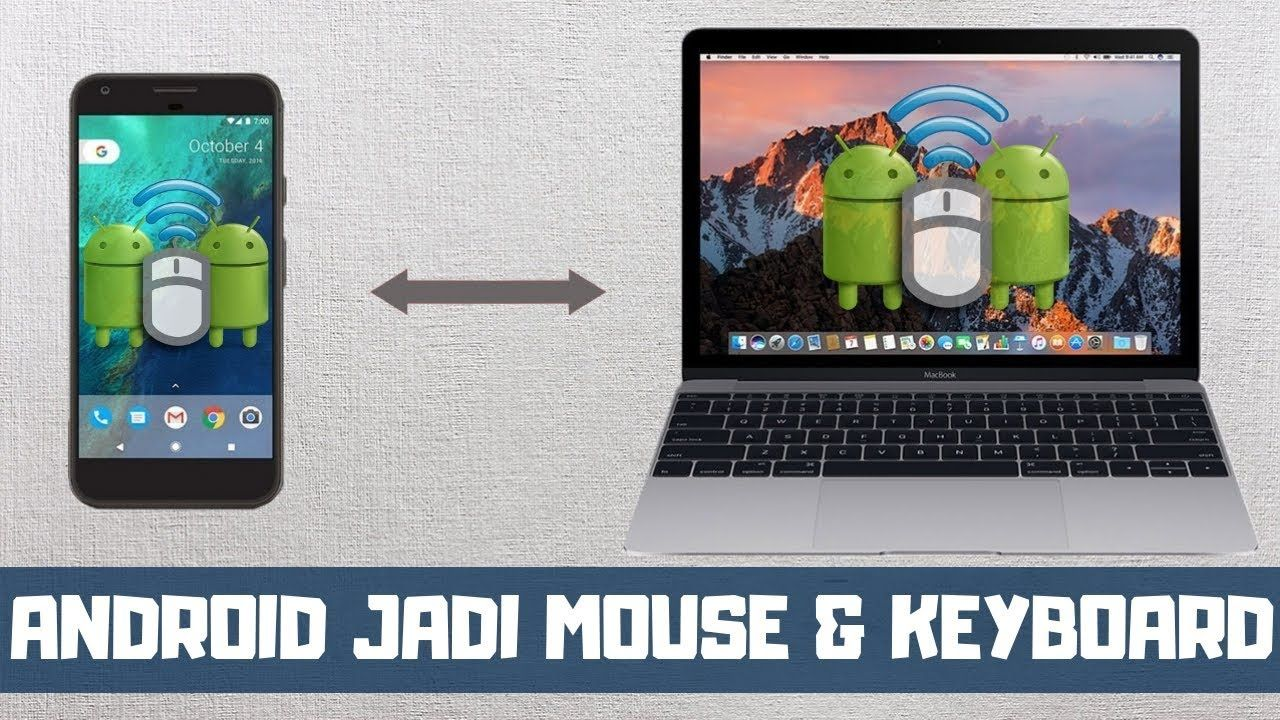 Cara Merubah Android Jadi Mouse Dan Keyboard Komputer Android Keyboard Komputer