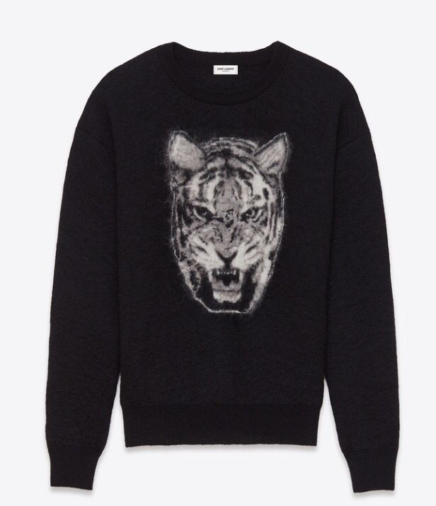 AW16 Saint Laurent tiger jumper