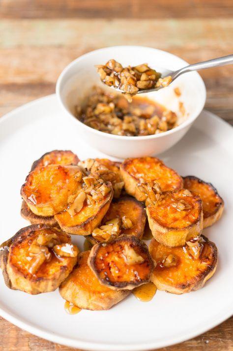 zoete aardappel met pecan   prive Pecannoten, Aardappel en