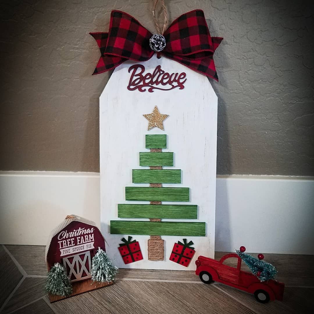 Hey Guys Remember The Buffalo Check Christmas Trees I Made Last Week Out Of Yard Stakes Well I Didnt Want To Wa Dollar Tree Diy Diy Holiday Decor Diy Holiday