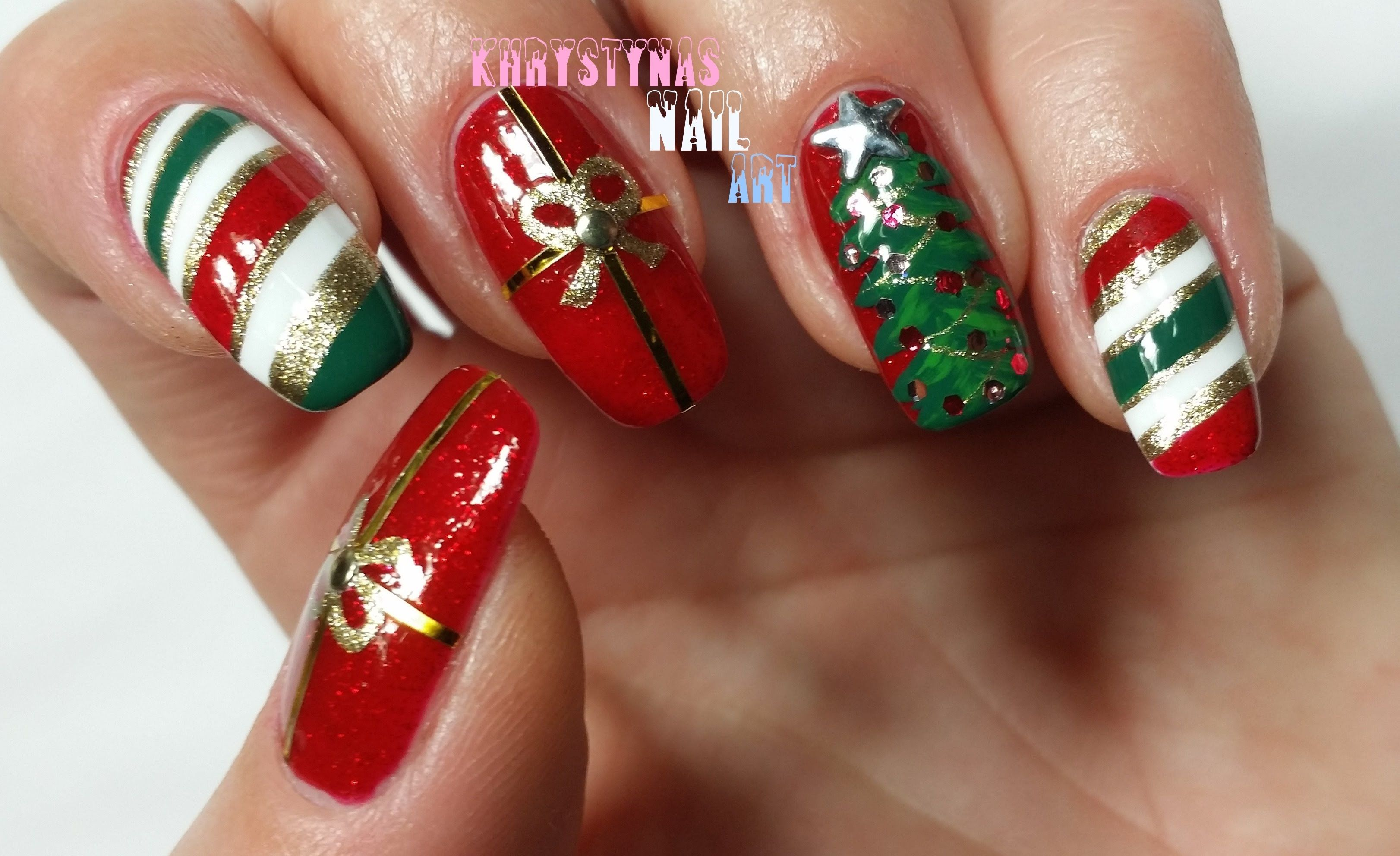 Nail Art for Christmas Three Christmas Nail Art Designs for