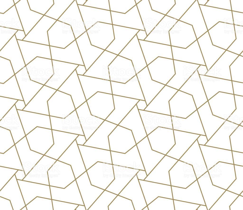 Modern Simple Geometric Vector Seamless Pattern With Gold Line Geometric Vector Seamless Patterns Line Texture