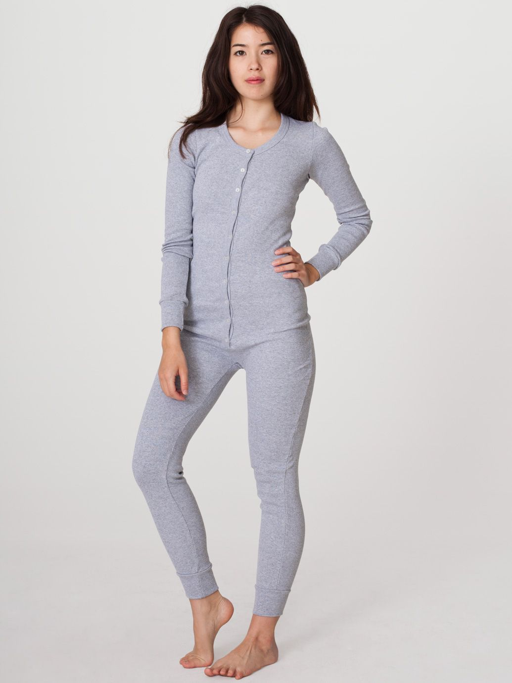 3a5e64f282 OMG I WANT THIS. Ideal PJs...Unisex Rib Henley One-Piece