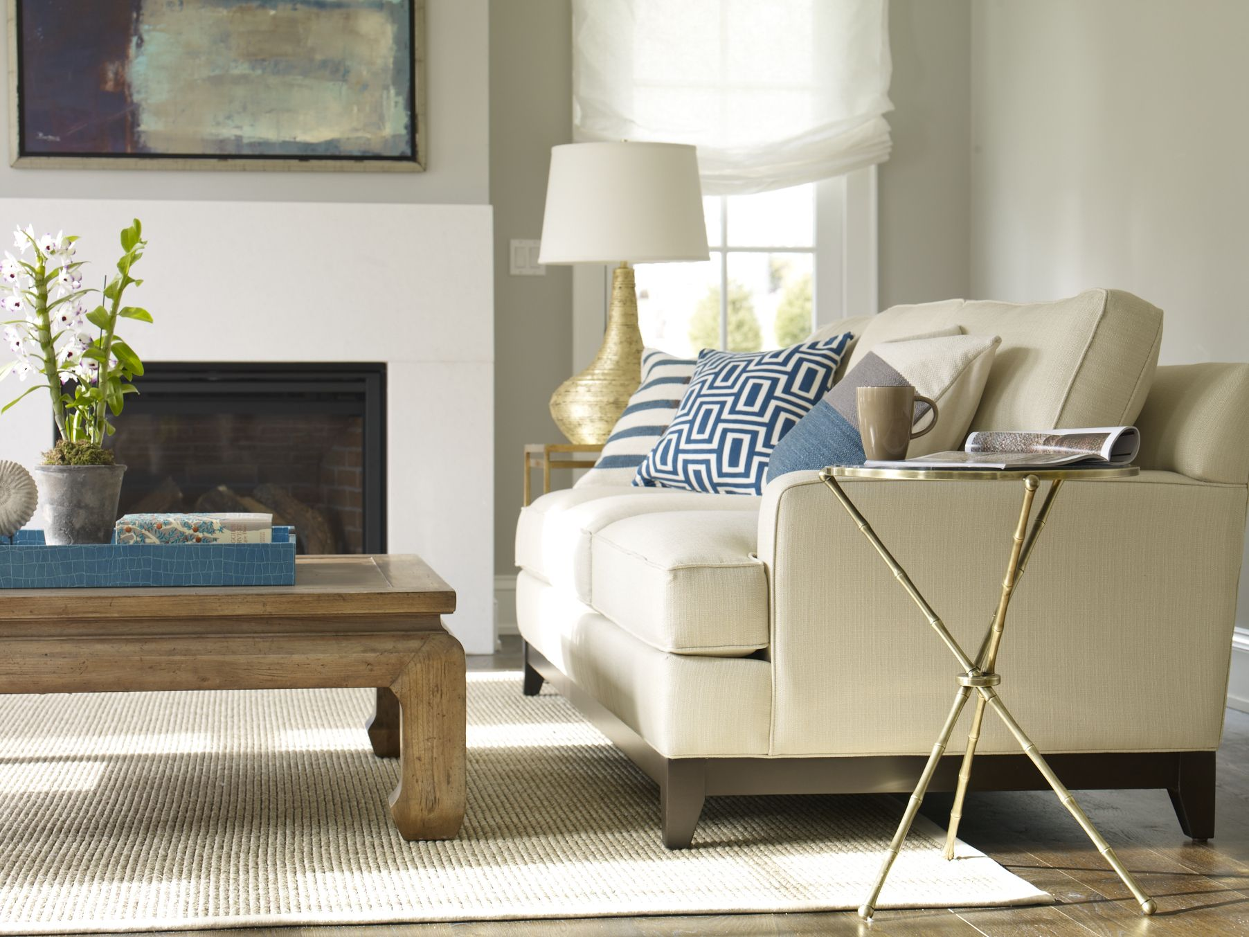 Our Arcata sofa paired with other Ethan Allen furniture pieces and ...