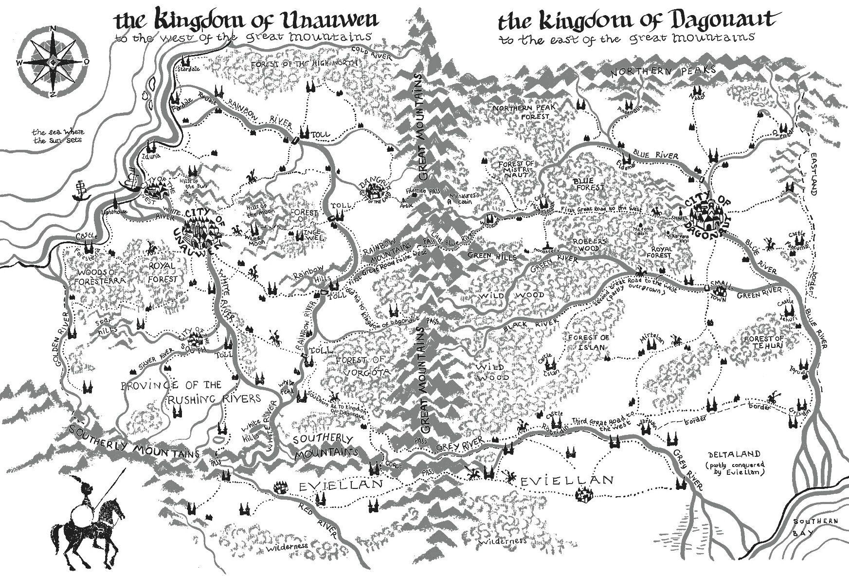 The Letter for the King 3d tekeningen, Kaarten en Boeken