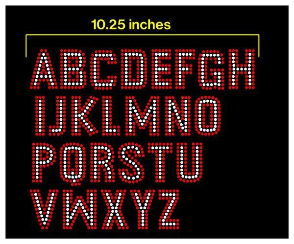 Pre Cut Sticky Flock Templates | 2 Inch Comic Rhinestone Font Sticky Flock Templates Files