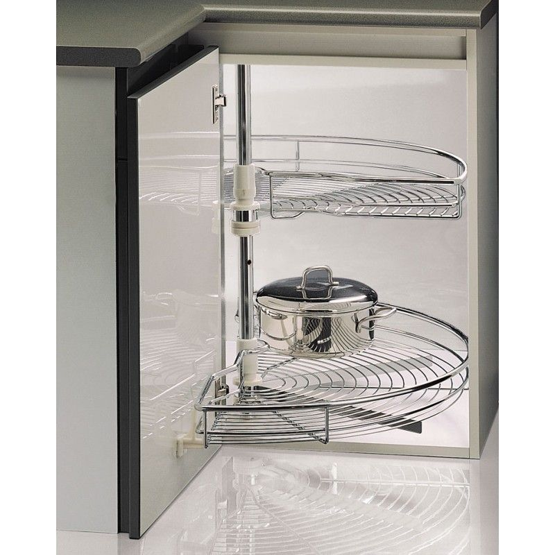 Cestas Giratorias Para Rincon A Partir De 160 54 Accesorio Ideal Para Montar En Tu Cocina Y Apro Bathroom Medicine Cabinet U Shaped Kitchen Kitchen Design