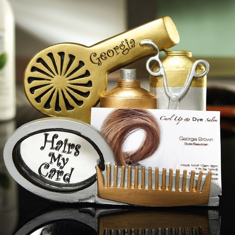 hairdresser business card holder - Google Search | Cosmetologist ...