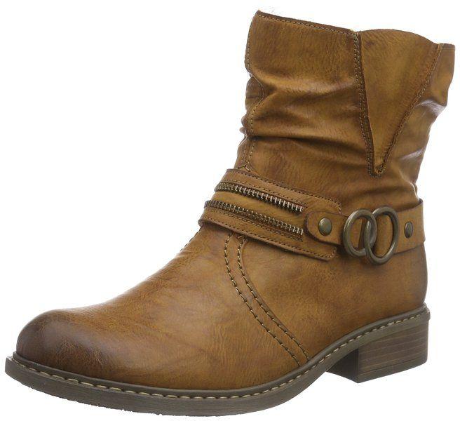 Rieker 74224, Damen Kurzschaft Stiefel, Grau (basalt/anthrazit/46), 37 EU (4 Damen UK)