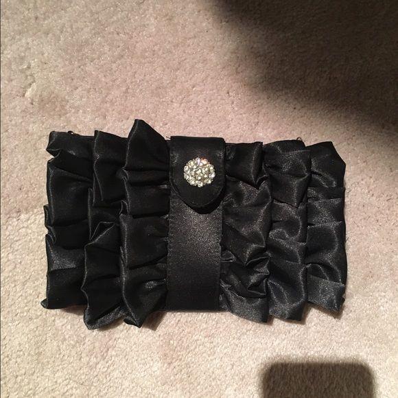 Dressy clutch | Black silk, Wristlets and Classy