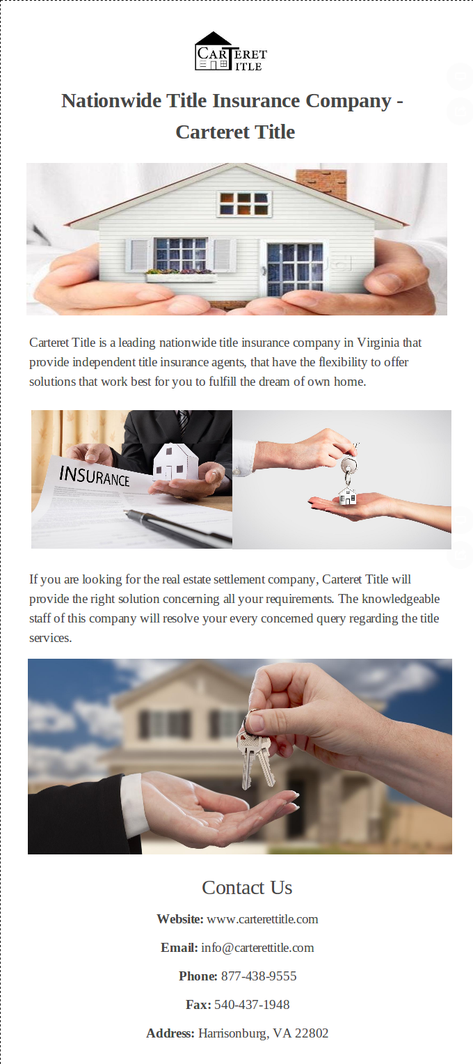 Carteret Title Is A Leading Nationwide Title Insurance Company In