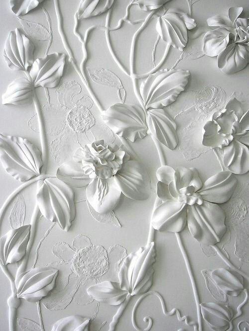 Very Nice Plain White With Flowers Wallpaper