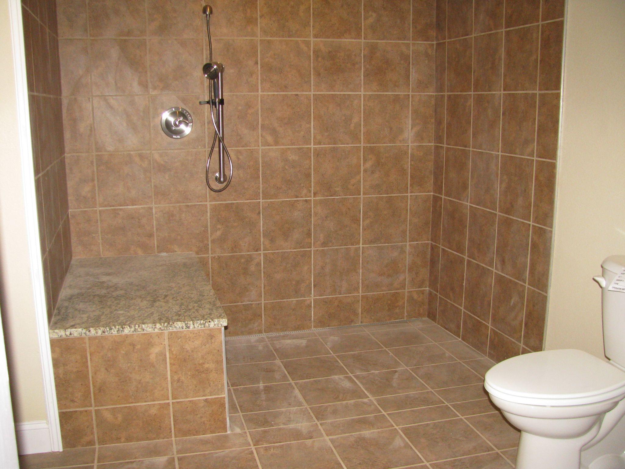 Roll in shower area