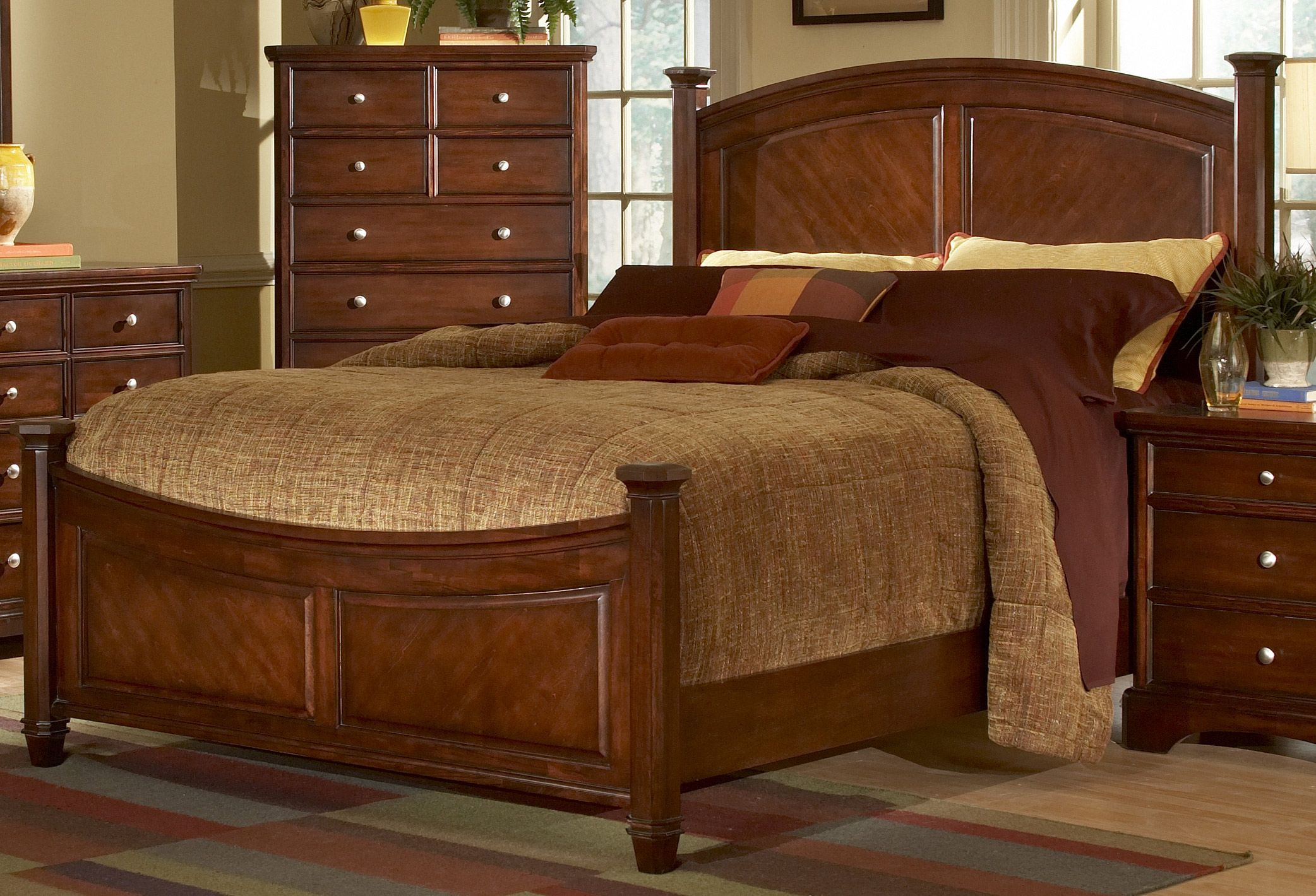 wood+inlays+for+headboards | Laurel Heights Bed-Cherry-Homelegance ...