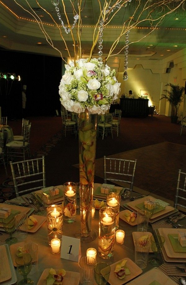 DIY Beach Wedding Centerpiece Ideas Rustic Table Decor About Bamboo