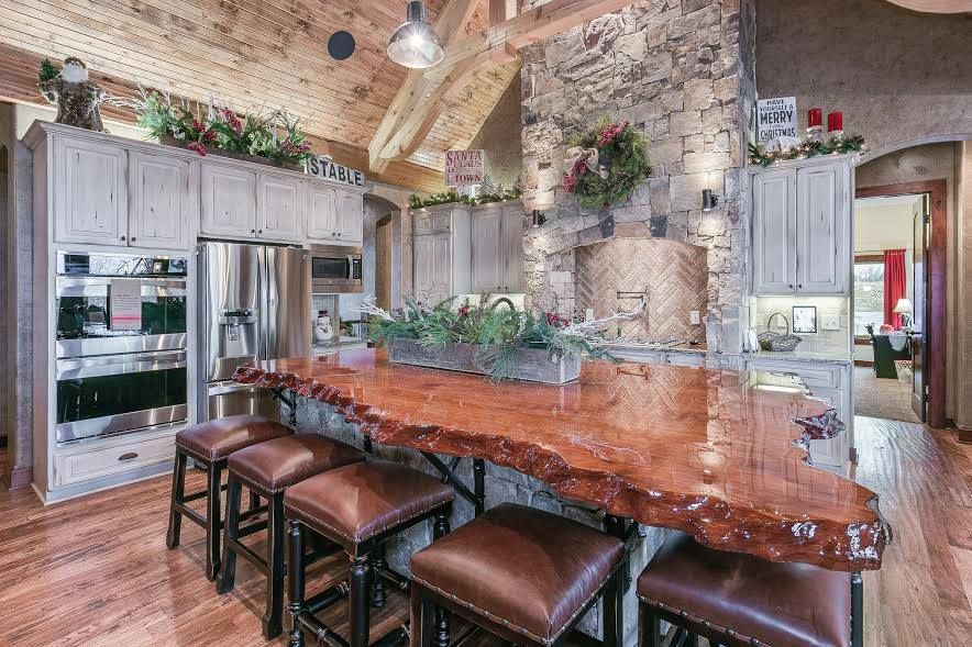 Rustic Countertops Bars Live Edge Countertop Redwood Burl Inc Rustic Kitchen Rustic Kitchen Countertops My Dream Home