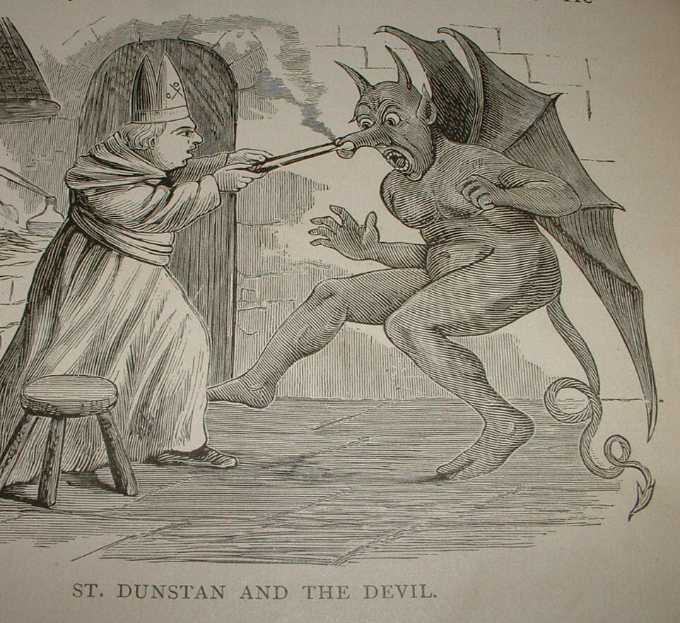 Resultado de imagem para saint dunstan and satan