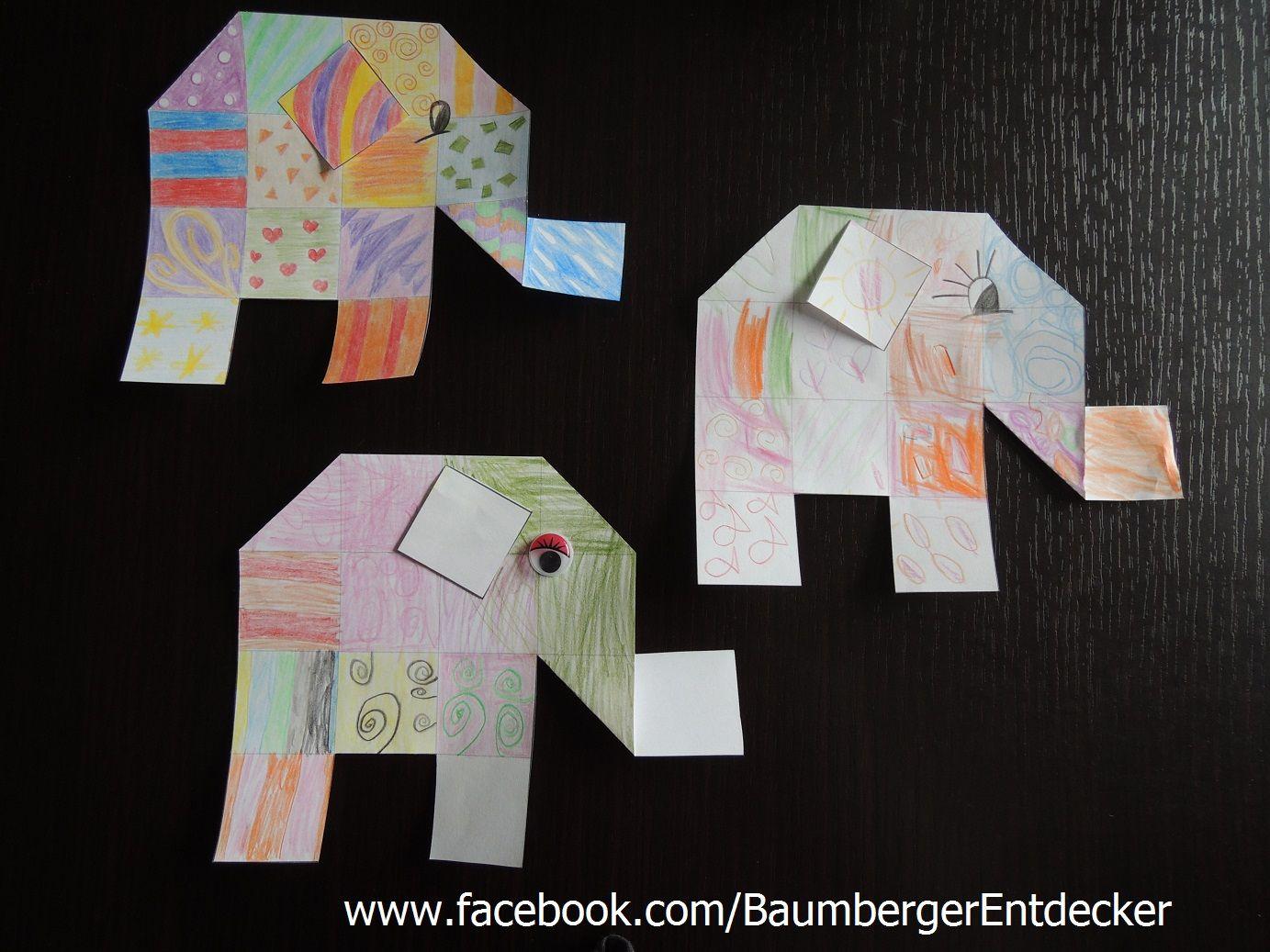 elefanten malen schneiden knicken wwwfacebook