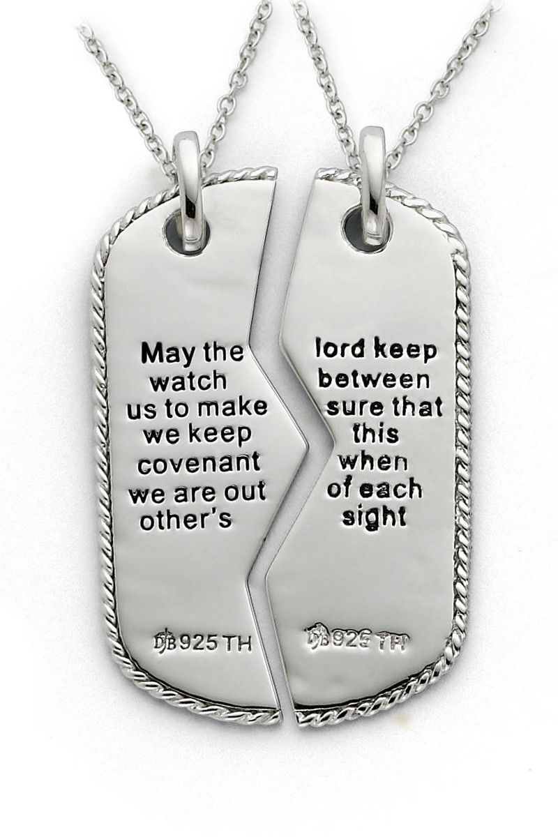 Military Mizpah Dog Tags For Two Land Of The Free Because Of Our