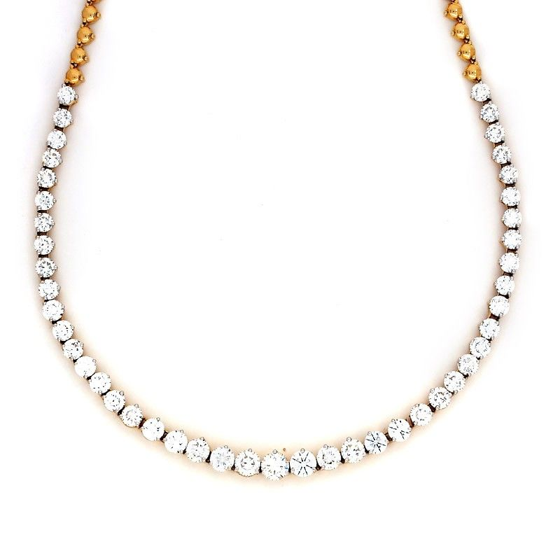 solitaire necklace item shopping buy diamond dots delettrez delfina women