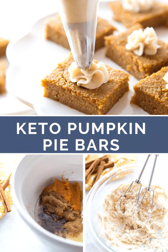Keto Pumpkin Pie Bars / Mouthwatering & Delicious #ketodessert