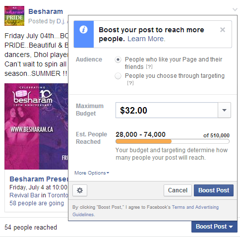 How To Refine Your Audience When Boosting A Facebook Post Inside Facebook Facebook Marketing Social Media Business Boosting