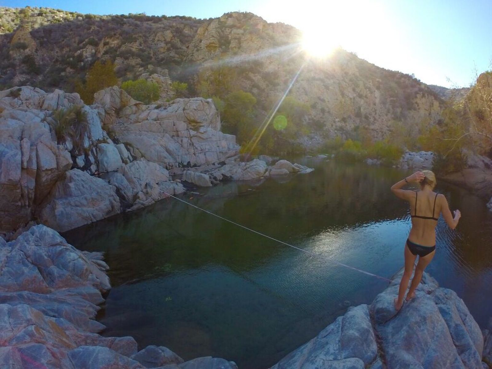 Deep Creek Hot Springs is nestled along the Mojave River ...
