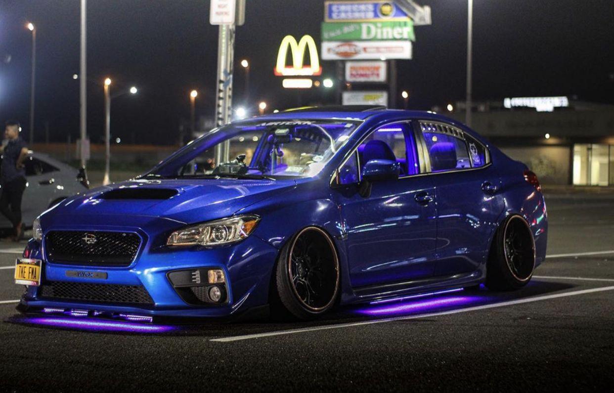 Slammed Wrx With Underglow Subaru Cars Wrx Street Racing Cars