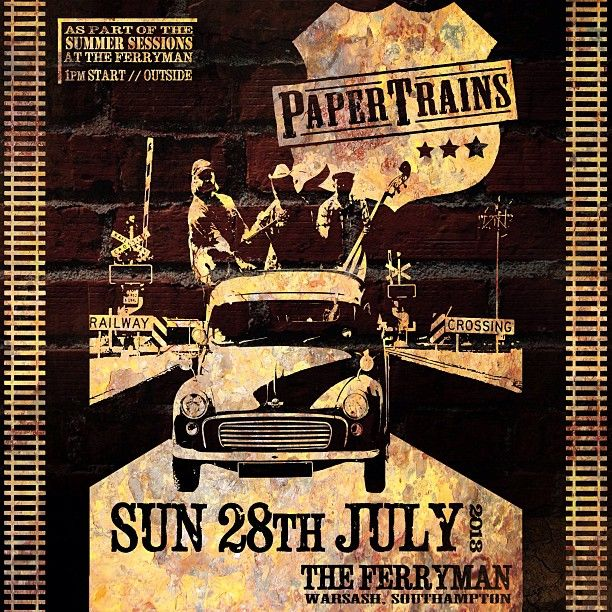 """We'll be stomping down outside at The Ferryman, Warsash, from 1pm TODAY (Sun 28th July) as part of their Summer Sessions. Don't fail us now sun! So bring ya bestest tappin' boots, clapin' mitts n' whoopin' tones, 'cos, as me ole pappy used to say, """"when ya wallow with dem pigs, expect to get a little dirty"""" ;)"""