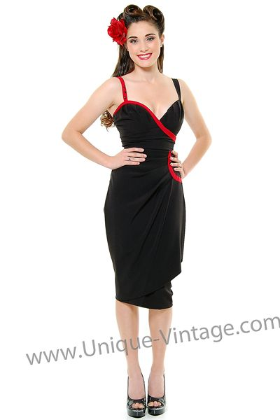 Stop Staring 1940 S Style Black Red Art Deco Wiggle Dress Xs To 3x Unique Unique Vintage Prom Dress 1940s Fashion Dresses Bombshell Dress