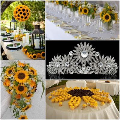 Summertime Sunflowers Quinceanera Sweet Fifteen Theme ...