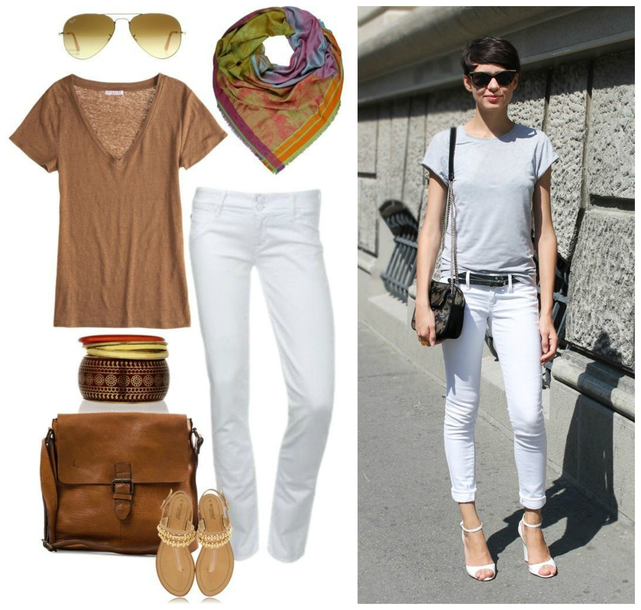 Outfit ideas for white jeans