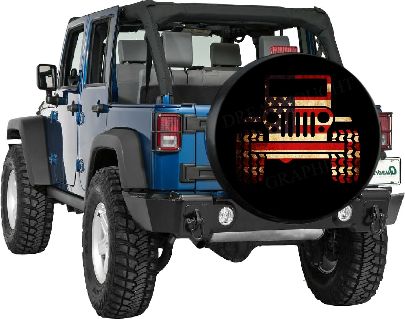 Jeep Flag Spare Tire Cover. Www.tirecoversale.com