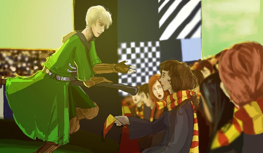 Hey Granger, want a ride? by aeasel :: Hawthorn & Vine <-- Ginny's face though