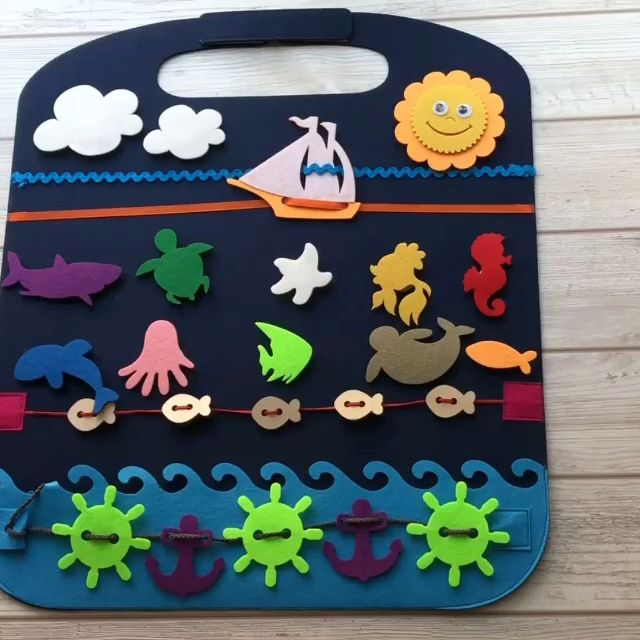 Photo of Activity Playmat, Toy for plane rides, car seat toy, Busy Playmat