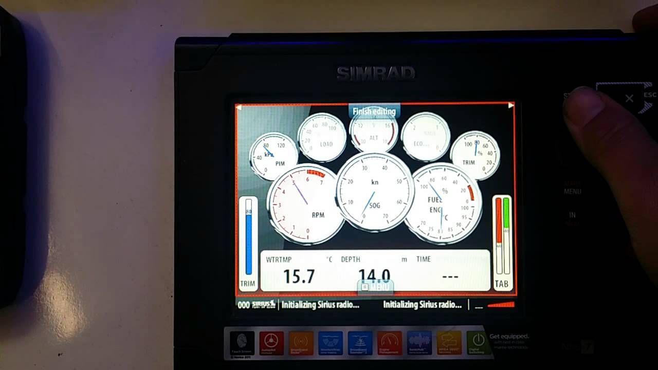 simrad nss7 engine gauges Marine electronics, Marine