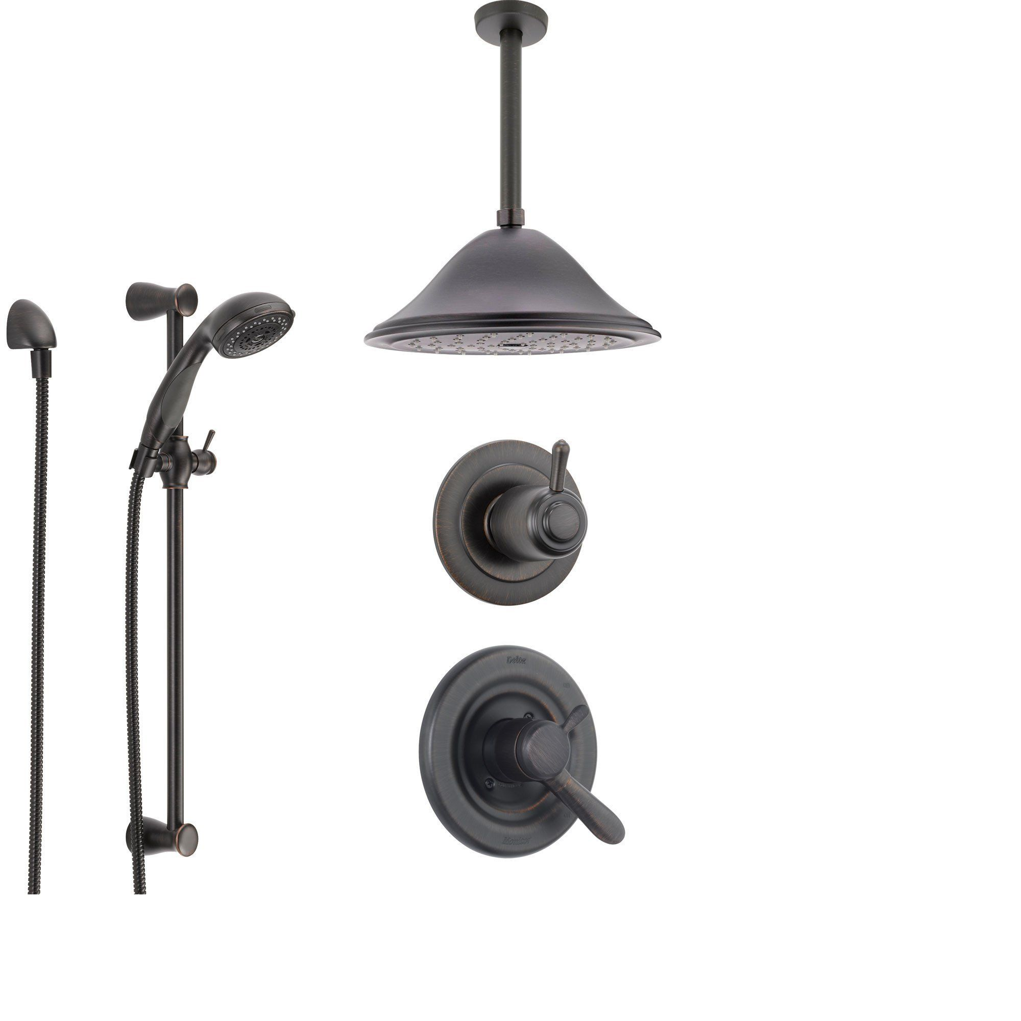 Delta Lahara Venetian Bronze Shower System With Dual Control
