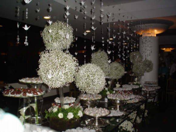 Fios de origami com cristal !!! Lindos !! Ideal para para decoração de casamentos. Preço por fio. R$ 15,00