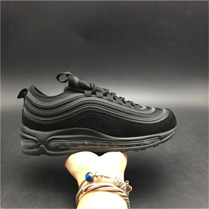 fabe0e27b2 Nike Air Max 97 UL 17 SE Ultra Suede 'Triple Black' Mens Womens Shoes