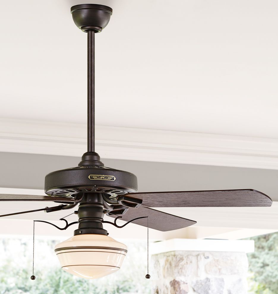 Hunter Allendale 52 Antique Brass Ceiling Fan At Menards: Schoolhouse Ceiling Fan Light Kit