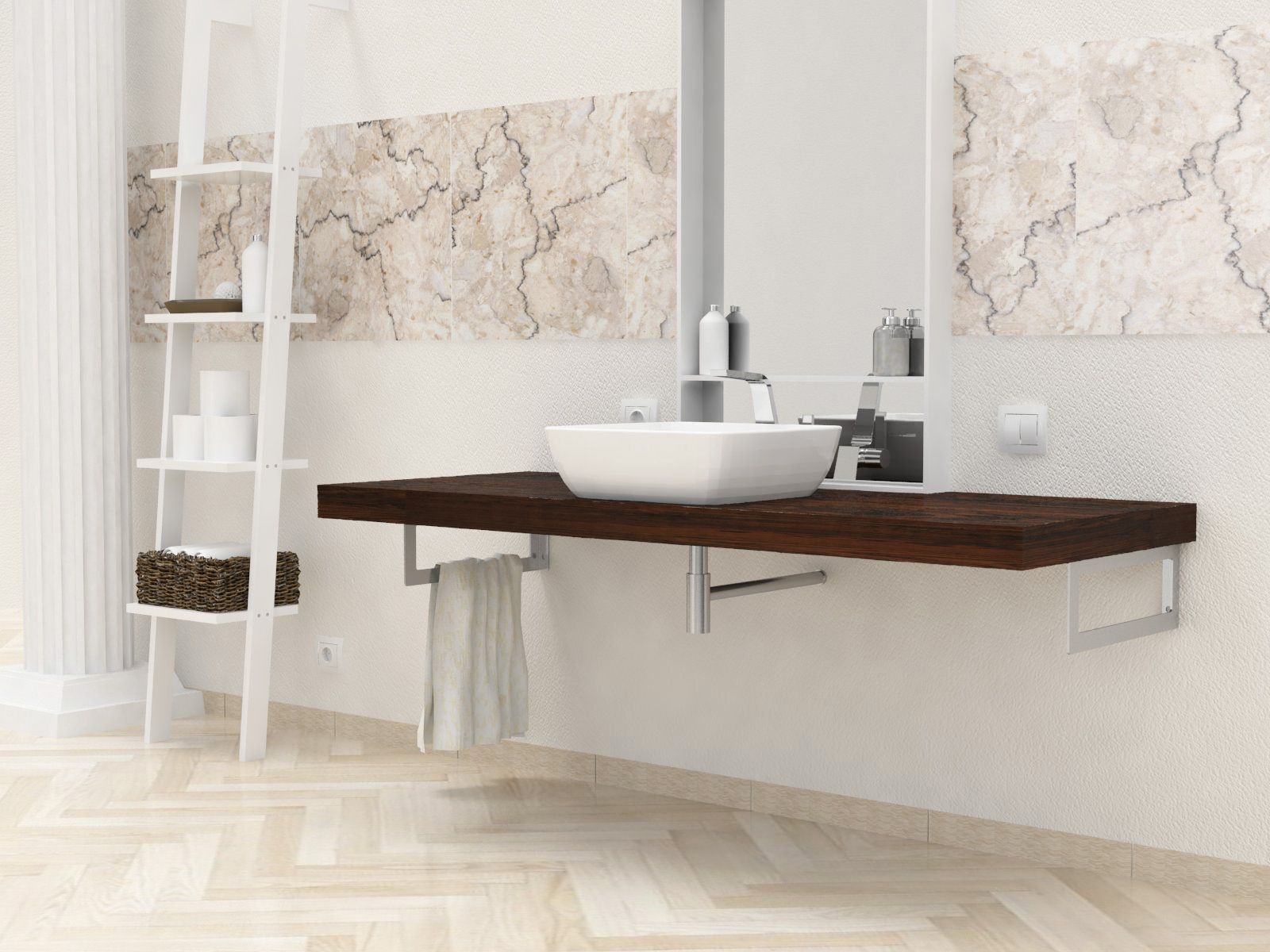 Bagno Legno Massello : Mensole per bagno mensole lavabo in legno massello su misura