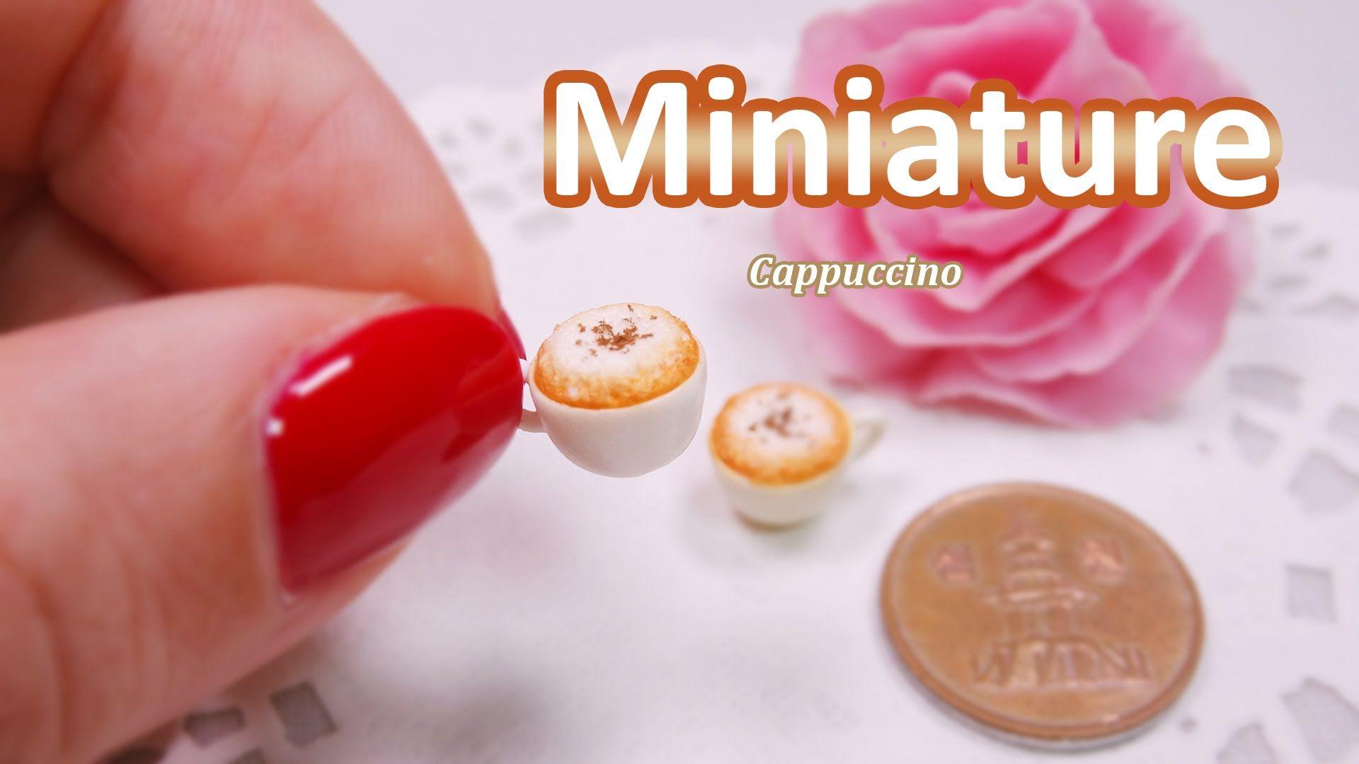 미니어쳐 카푸치노 만들기 (천사점토) Miniature * Cappuccino (angel clay)