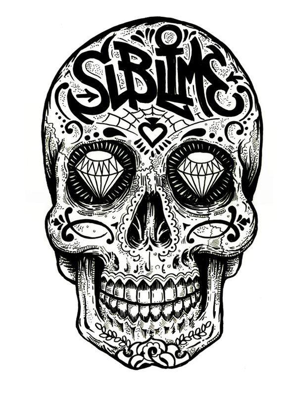 c2ab70665b435 Sugar Skull Sublime | cover up | Sugar skull tattoos, Sublime tattoo ...