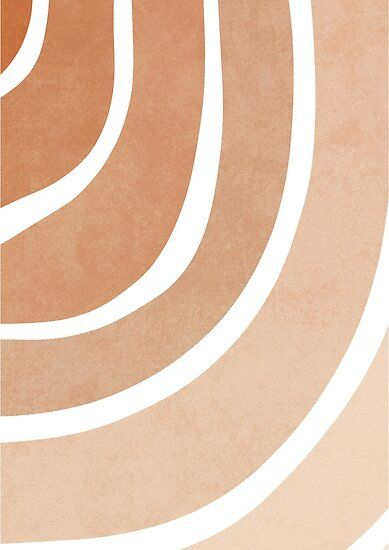 Ombre neutral lines Poster