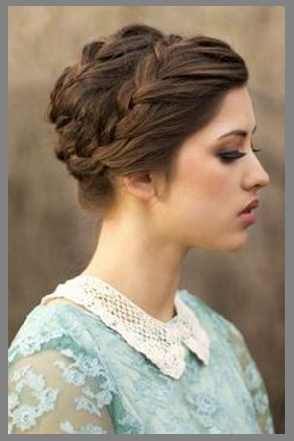 braided victorian updo hairstyle for womens with long hair